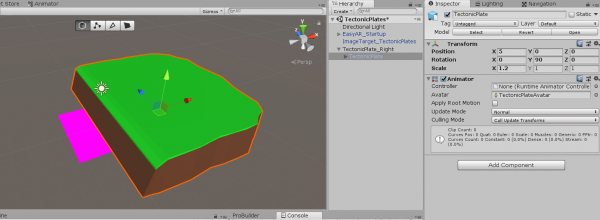 Ground object model imported into Unity