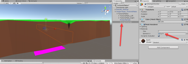 Unity objects with Mesh Renderer Component added
