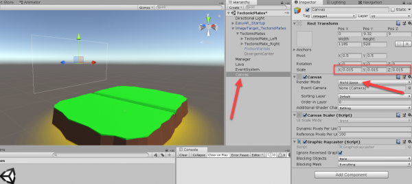 Unity Canvas UI object added to scene