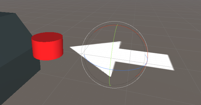Arrow in Unity pointing to Dashboard button object