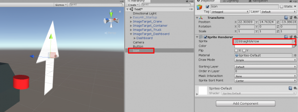 Icon object in Unity with Spirte Renderer component