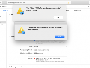 Mac warnings about folders now existing