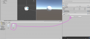 Unity Inspector with Stroke script pointing to Add Component
