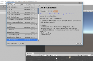 AR Foundation package information in Unity