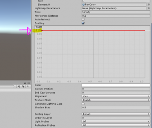 Width option in Trail Renderer component for Unity