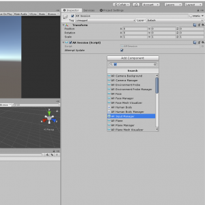 AR Input Manager component selected in Unity Inspector