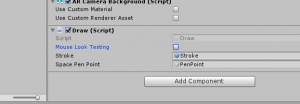 Unity Draw Script component view
