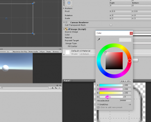 Unity Color window with Alpha adjusted