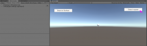 Unity Game view with button on right selected