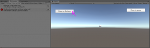 Unity Game view with button on left selected
