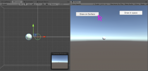 Unity drawing app test with left button