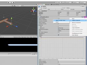 Unity Added Component menu with Apply to Prefab 'Stroke' selected