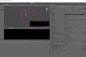 Unity camera object's position highlighted