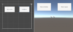Unity UI buttons in Scene and Game view