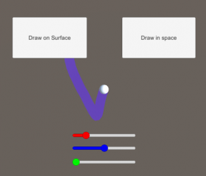 Unity drawing application with color selectors