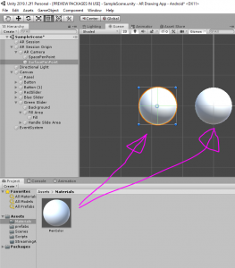 PenColor objects in Unity Scene view