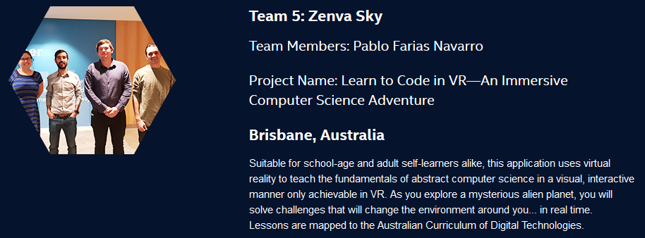 Zenva team at the Ultimate Coder Challenge