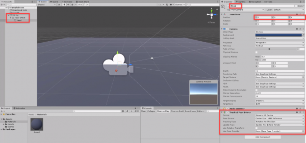 Unity XR Rig, Floor Offset, and Head objects in Hierarchy