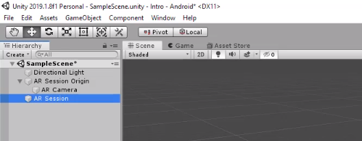 Unity AR Session created in Hierarchy