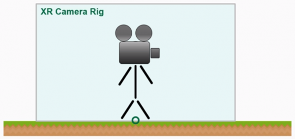 Figure representing the XR Camera rig