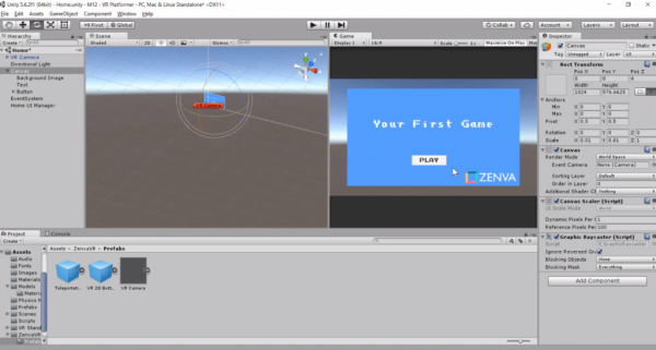 Unity first game project
