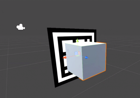 Cube added to Unity EasyAR project